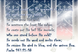 Psalm 147:15-18
